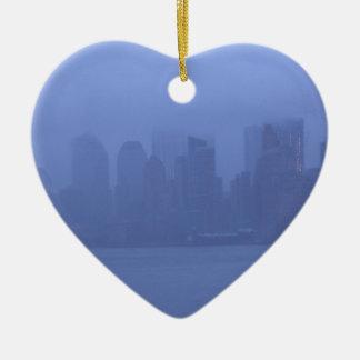 ニューヨークシティのハートのオーナメントNYCのギフト セラミックオーナメント
