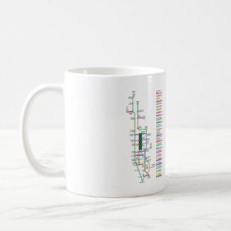 ニューヨークシティのバイクの地図11オンスのマグ コーヒーマグカップ