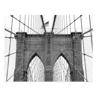 ニューヨークシティのブルックリン橋 ポストカード