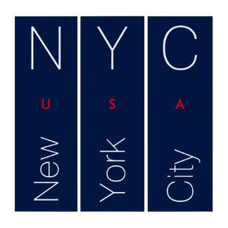 ニューヨークシティのモダンなタイポグラフィ トリプティカ
