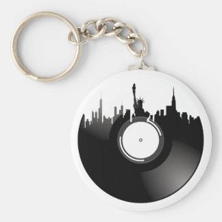 ニューヨークシティのレコード キーホルダー