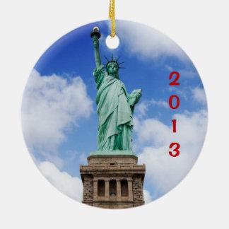 ニューヨークシティの休日 セラミックオーナメント
