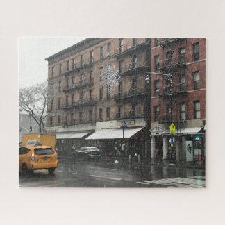 ニューヨークシティの北西側の雪の写真撮影 ジグソーパズル