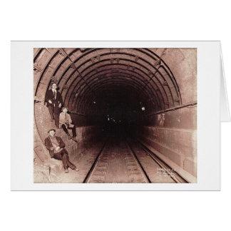 ニューヨークシティの地下鉄システムヴィンテージの人 カード