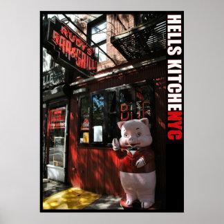 ニューヨークシティの地獄の台所地区のバー及びグリル ポスター