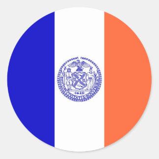 ニューヨークシティの旗が付いているステッカー ラウンドシール