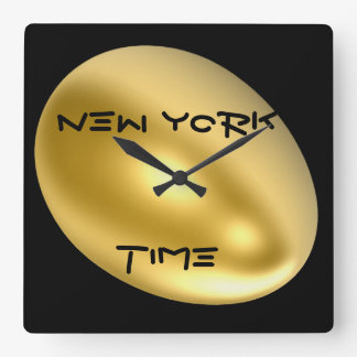 ニューヨークシティの柱時計! スクエア壁時計