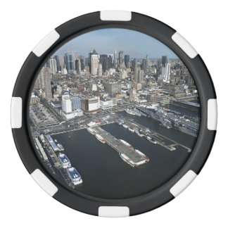 ニューヨークシティの港 ポーカーチップ