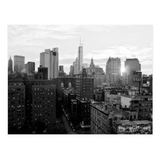 ニューヨークシティの白黒郵便はがき ポストカード