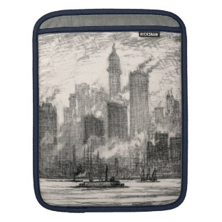 ニューヨークシティの知事の島のスケッチ iPadスリーブ