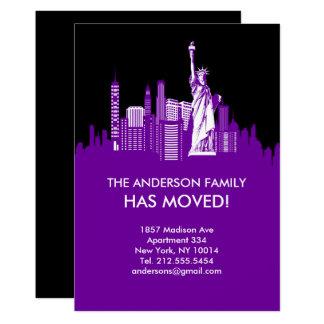 ニューヨークシティの空ライン移動発表 カード