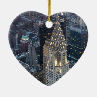 ニューヨークシティの空気のスカイラインNYCを造るクライスラ セラミックオーナメント