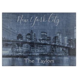 ニューヨークシティの美しいスカイライン カッティングボード