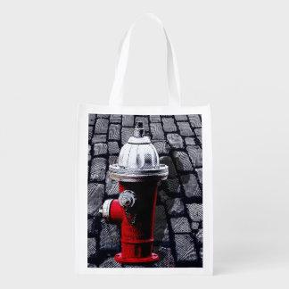 ニューヨークシティの赤い消火栓 エコバッグ