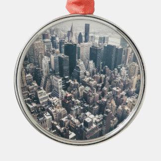 ニューヨークシティの超高層ビルそして屋上 メタルオーナメント