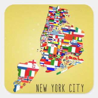ニューヨークシティの近隣はステッカーに印を付けます スクエアシール