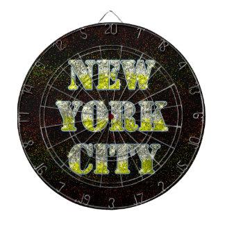 ニューヨークシティの銀製の金ゴールドのグリッター ダーツボード