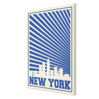ニューヨークシティの青 キャンバスプリント