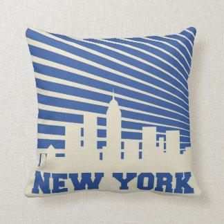 ニューヨークシティの青 クッション