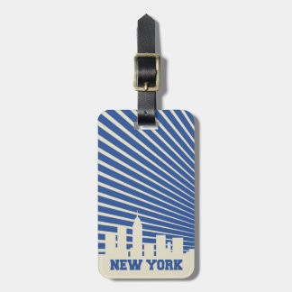 ニューヨークシティの青 ラゲッジタグ