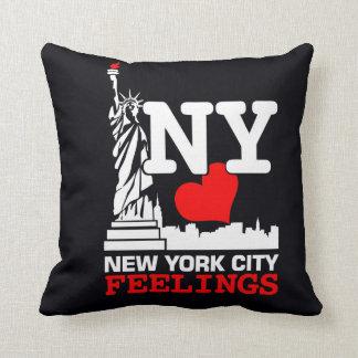 ニューヨークシティの黒い枕 クッション