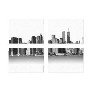 ニューヨークシティの黒及び白 キャンバスプリント
