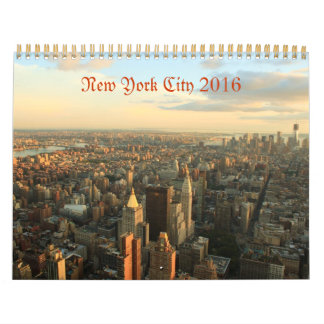 ニューヨークシティの2016年の写真撮影のカレンダー カレンダー