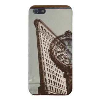 ニューヨークシティのflatironの建物および時計 iPhone 5 カバー