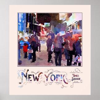 ニューヨークシティは警官の水彩画を取付けました ポスター