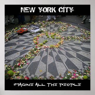 ニューヨークシティは、人々全員を想像します ポスター