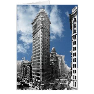 ニューヨークシティを造るFlatiron グリーティングカード