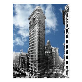 ニューヨークシティを造るFlatiron ポストカード
