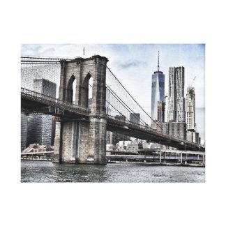 ニューヨークシティブルックリン橋 キャンバスプリント