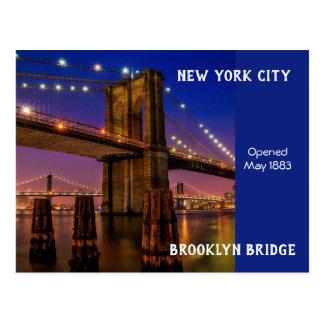 ニューヨークシティブルックリン橋 ポストカード