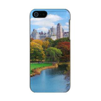 ニューヨークシティマンハッタンセントラル・パークのパノラマ メタリックiPhone SE/5/5sケース