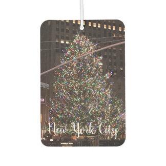 ニューヨークシティロックフェラーの中心のクリスマスツリー カーエアーフレッシュナー