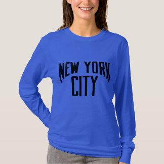 ニューヨークシティ多くの色のユニセックスな長袖のワイシャツ Tシャツ