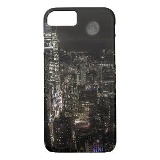 ニューヨークシティ夜スカイラインの写真 iPhone 8/7ケース