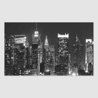 ニューヨークシティ夜 長方形シール