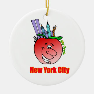 ニューヨークシティ大きいApple セラミックオーナメント