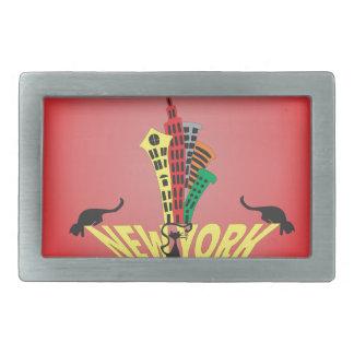 ニューヨークシティ猫 長方形ベルトバックル