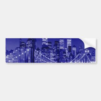 ニューヨークシティ青い夜 バンパーステッカー