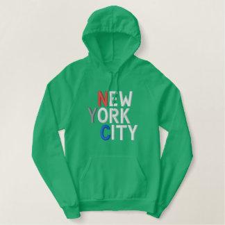 ニューヨークシティ2の刺繍されたワイシャツ 刺繍入りパーカ