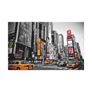 """""""ニューヨークシティ""""のタクシー都市ハッスルの壁の芸術 キャンバスプリント"""