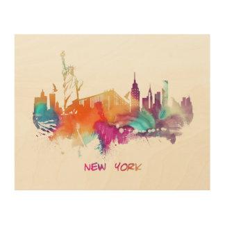 ニューヨークシティ ウッドウォールアート