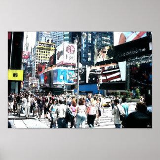 ニューヨークシティ-タイムズ・スクエア ポスター