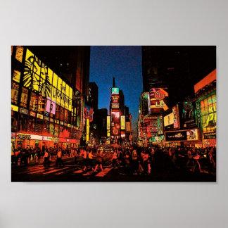 ニューヨークシティ(タイムズ・スクエア)ポスター ポスター