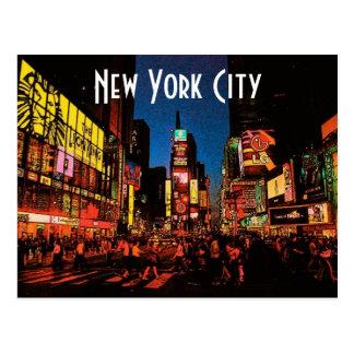 ニューヨークシティ(ネオン)の郵便はがき ポストカード