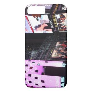 ニューヨークシティ(ピンク)のタイムズ・スクエア iPhone 8 PLUS/7 PLUSケース
