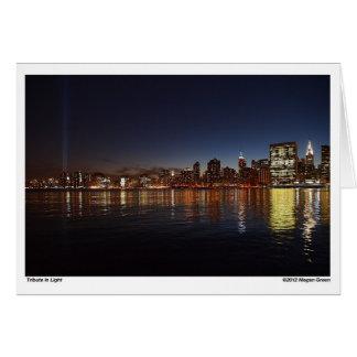 ニューヨークシティ-ライトの捧げ物 カード